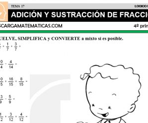 DESCARGAR ADICION Y SUSTRACCION DE FRACCIONES – MATEMATICA CUARTO DE PRIMARIA