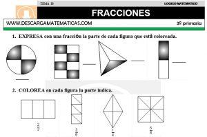 18 FRACCIONES - TERCERO DE PRIMARIA