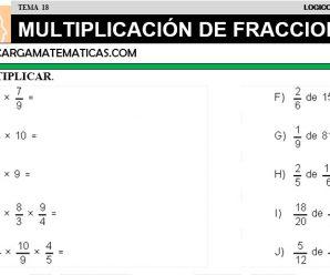 DESCARGAR MULTIPLICACION DE FRACCIONES – MATEMATICA CUARTO DE PRIMARIA