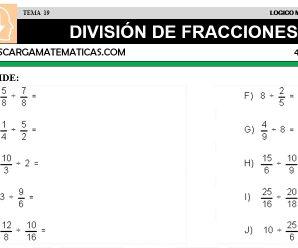 DESCARGAR DIVISION DE FRACCIONES – MATEMATICA CUARTO DE PRIMARIA