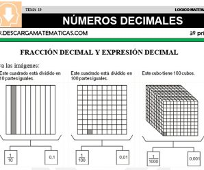 DESCARGAR NUMEROS DECIMALES- MATEMATICA TERCERO DE PRIMARIA