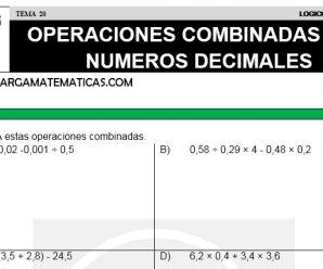 DESCARGAR OPERACIONES COMBINADAS CON NUMEROS DECIMALES – MATEMATICA QUINTO DE PRIMARIA
