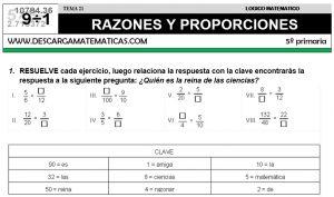 21 RAZONES Y PROPORCIONES - QUINTO DE PRIMARIA