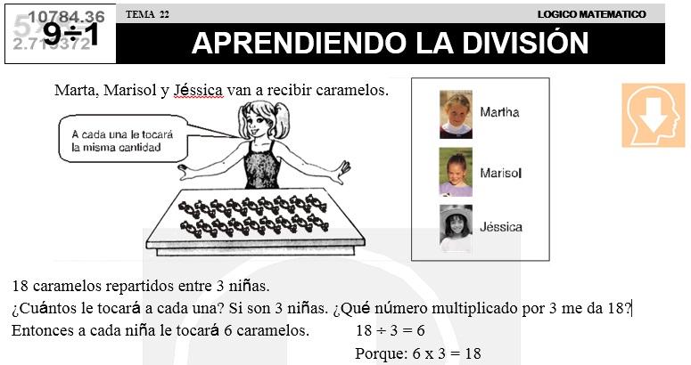 22 INICIACIÓN DE LA DIVISIÓN - SEGUNDO DE PRIMARIA