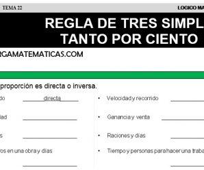 DESCARGAR REGLA DE TRES SIMPLE – MATEMATICA QUINTO DE PRIMARIA