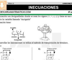 DESCARGAR INECUACIONES – MATEMATICA TERCERO DE PRIMARIA
