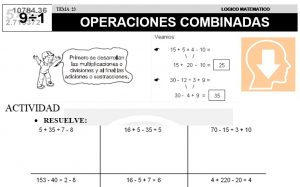 23 OPERACIONES COMBINADAS - SEGUNDO DE PRIMARIA