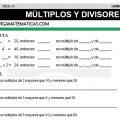 DESCARGAR MULTIPLOS Y DIVISORES – MATEMATICA CUARTO DE PRIMARIA