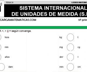 DESCARGAR SISTEMA INTERNACIONAL DE UNIDADES DE MEDIDA II- MATEMATICA QUINTO DE PRIMARIA