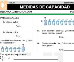 DESCARGAR MEDIDAS DE CAPACIDAD – MATEMATICA TERCERO DE PRIMARIA