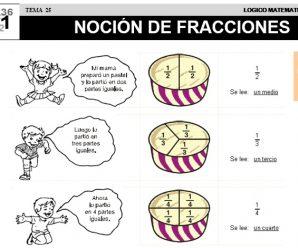 DESCARGAR NOCION DE FRACCIONES – MATEMATICA SEGUNDO DE PRIMARIA