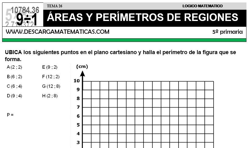 26 ÁREAS Y PERÍMETROS DE REGIONES - QUINTO DE PRIMARIA