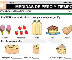 DESCARGAR MEDIDAS DE PESO Y TIEMPO – MATEMATICA TERCERO DE PRIMARIA