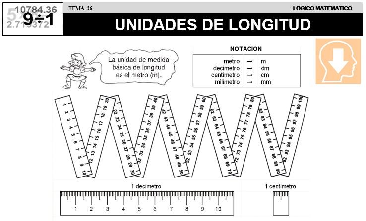 26 UNIDADES DE LONGITUD - SEGUNDO DE PRIMARIA