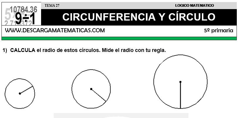 27 CIRCUNFERENCIA Y CIRCULO - QUINTO DE PRIMARIA