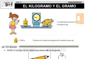 27 EL KILOGRAMO Y EL GRAMO - SEGUNDO DE PRIMARIA