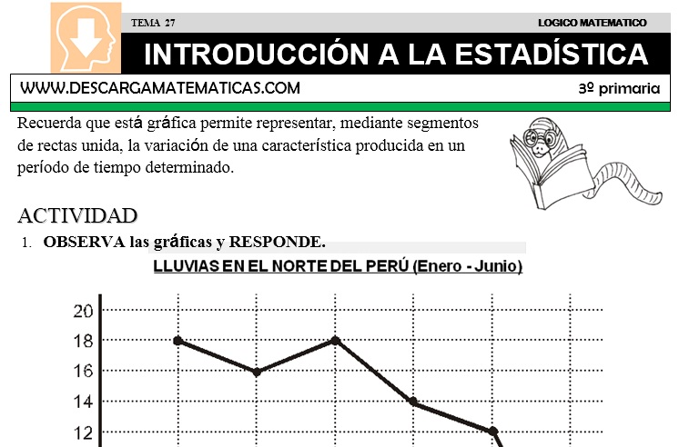 27 INTRODUCCIÓN A LA ESTADÍSTICA - TERCERO DE PRIMARIA