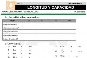 27 LONGITUD Y CAPACIDAD - CUARTO DE PRIMARIA
