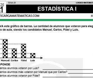 DESCARGAR ESTADISTICA I – MATEMATICA QUINTO DE PRIMARIA