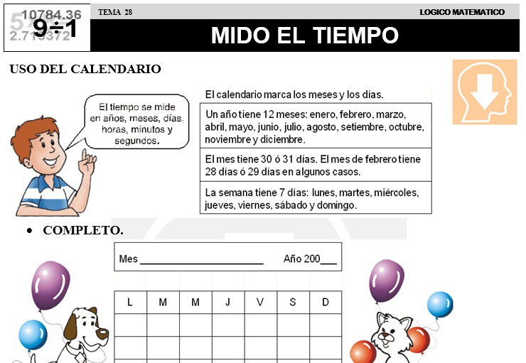 28 MIDO EL TIEMPO - SEGUNDO DE PRIMARIA