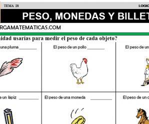 DESCARGAR EL PESO, LAS MONEDAS Y BILLETES – MATEMATICA CUARTO DE PRIMARIA