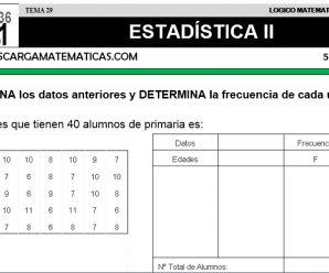 DESCARGAR ESTADISTICA II – MATEMATICA QUINTO DE PRIMARIA