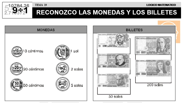 29 RECONOZCO LAS MONEDAS Y LOS BILLETES - SEGUNDO DE PRIMARIA
