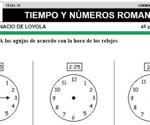 DESCARGAR TIEMPO Y NUMEROS ROMANOS – MATEMATICA CUARTO DE PRIMARIA
