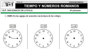 29 TIEMPO - NÚMEROS ROMANOS - CUARTO DE PRIMARIA