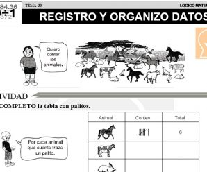 DESCARGAR REGISTRO Y ORGANIZO DATOS – MATEMATICA SEGUNDO DE PRIMARIA