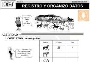 30 REGISTRO Y ORGANIZO DATOS - SEGUNDO DE PRIMARIA