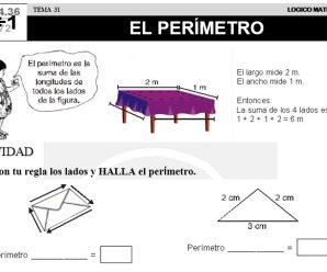DESCARGAR PERIMETRO – MATEMATICA SEGUNDO DE PRIMARIA