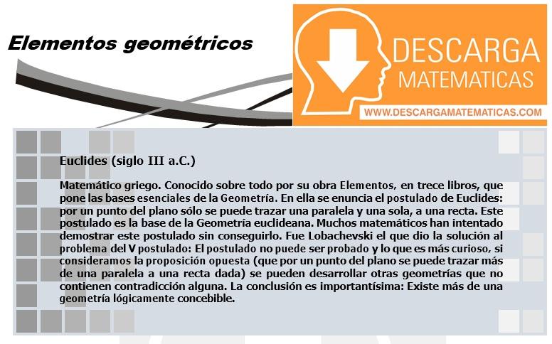 01 Elementos Geométricos – Geometría Segundo de Secundaria