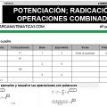 DESCARGAR POTENCIACION Y RADICACION – MATEMATICA SEXTO DE PRIMARIA