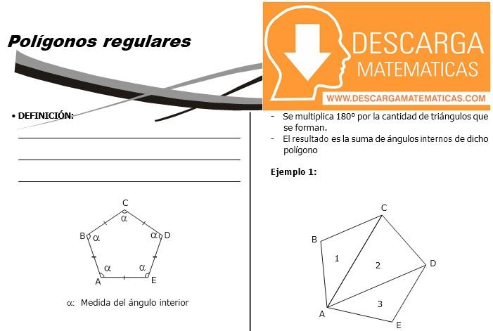 09 Polígonos Regulares Geometría Segundo de Secundaria