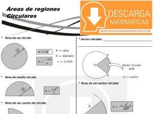 12 Áreas de regiones circulares Geometria Segundo de Secundaria