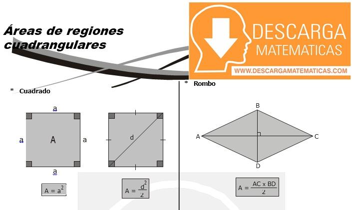 13 Áreas de regiones cuadrangulares Geometria Segundo Grado de Secundaria