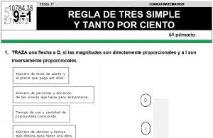 17 REGLA DE TRES SIMPLE - SEXTO DE PRIMARIA