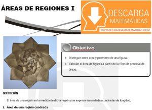 18 Áreas de Regiones Geometria Segundo de Secundaria
