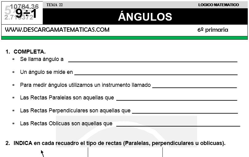 22 ÁNGULOS - SEXTO DE PRIMARIA