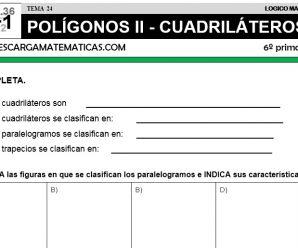 DESCARGAR POLÍGONOS II – MATEMÁTICA SEXTO DE PRIMARIA