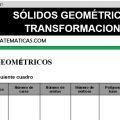 DESCARGAR SOLIDOS GEOMETRICOS Y TRANSFORMACIONES – MATEMATICA SEXTO DE PRIMARIA