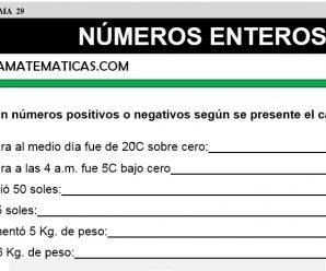 DESCARGAR NUMEROS ENTEROS I – MATEMATICA SEXTO DE PRIMARIA