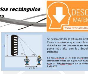 DESCARGAR TRIANGULOS RECTANGULOS NOTABLES – GEOMETRIA TERCERO DE SECUNDARIA