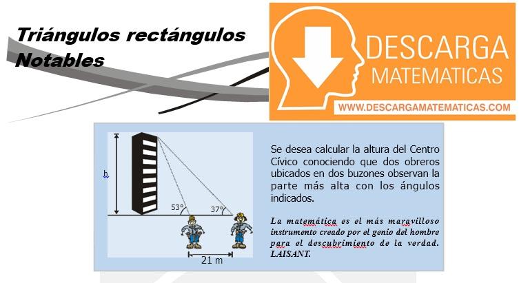 09 Triángulos rectángulos notables - Geometria Tercero de Secundaria