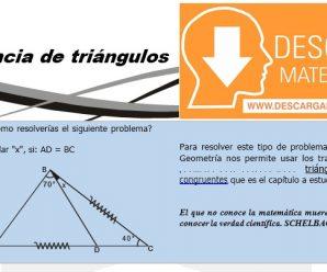 DESCARGAR CONGRUENCIA DE TRIANGULOS – GEOMETRIA TERCERO DE SECUNDARIA