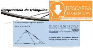 10 Congruencia de triángulos - Geometria Tercero de Secundaria