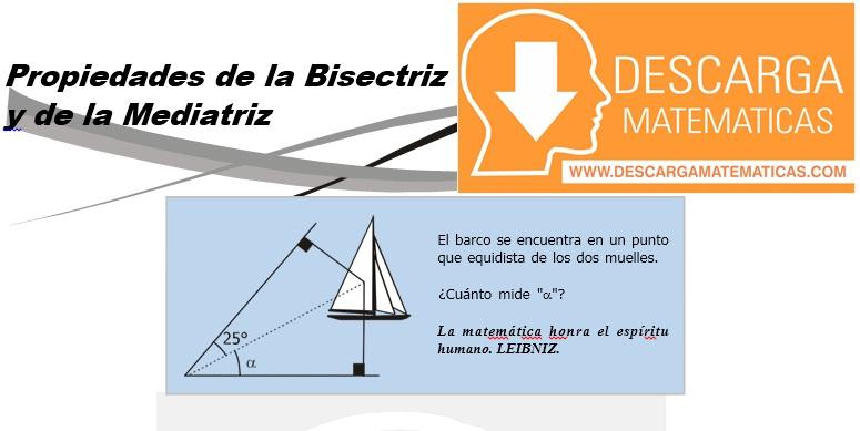 11 Propiedades de la Bisectriz y de la Mediatriz - Geometria Tercero de Secundaria