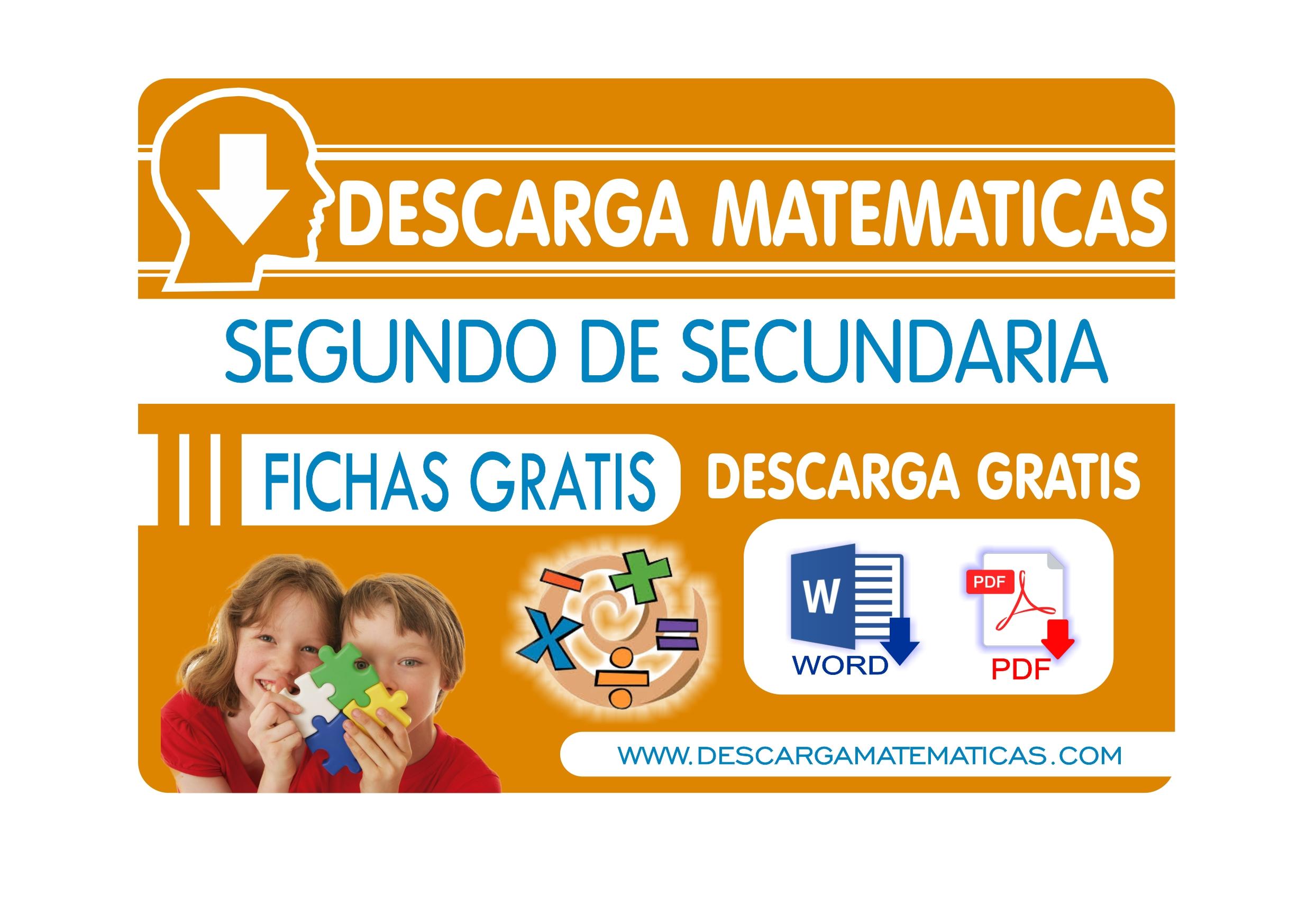 Segundo De Secundaria Descarga Matematicas