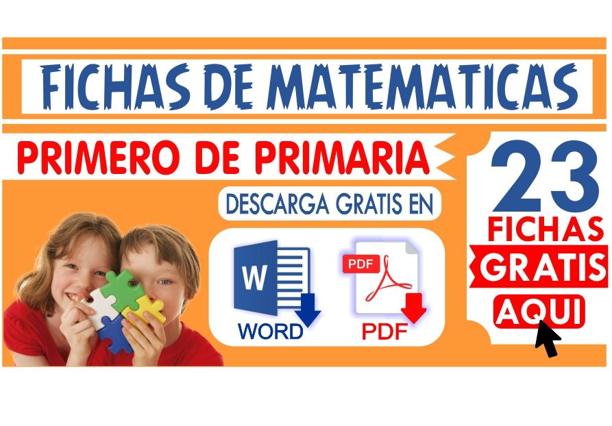 Fichas de Matematica para Primero de Primaria